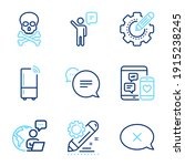technology icons set. included... | Shutterstock .eps vector #1915238245