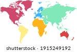 world map color vector modern.... | Shutterstock .eps vector #1915249192