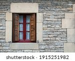 Window On The Facade Of Chalet