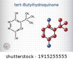 tbhq  tert butylhydroquinone ... | Shutterstock .eps vector #1915255555