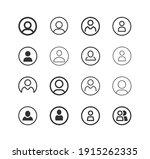 user avatar person user line... | Shutterstock .eps vector #1915262335