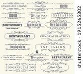 calligraphic design elements.... | Shutterstock .eps vector #1915265302