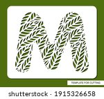 stencil with the letter m made... | Shutterstock .eps vector #1915326658
