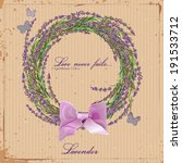 Lavender. Wreath Of Herbs Of...