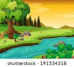 illustration of the flowing... | Shutterstock .eps vector #191534318