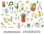 Gardening Collection. Tools And ...