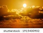 Brilliant Orange Sunrise Over...