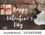 Happy Valentine's Day Text On...