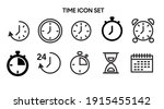 vector isolated time and clock...   Shutterstock .eps vector #1915455142