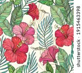 vector seamless exotic pattern...   Shutterstock .eps vector #1915463398