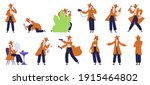 private detective. crime... | Shutterstock .eps vector #1915464802