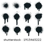 spray paint dots. splatter... | Shutterstock .eps vector #1915465222