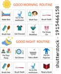 kids daily responsibilities... | Shutterstock .eps vector #1915466158