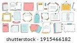 doodle paper sheet. hand drawn...   Shutterstock .eps vector #1915466182