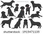 labrador retriever dogs in... | Shutterstock .eps vector #1915471135