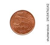 5 brazilian real centavos coin... | Shutterstock . vector #1915476142