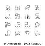 communication line icon set.... | Shutterstock .eps vector #1915485802