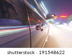 car on the road with motion... | Shutterstock . vector #191548622