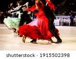 Couple Ballroom Dancers In...