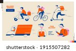 set of delivery man icons. food ...   Shutterstock .eps vector #1915507282
