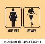 your wife my wife funny novelty ... | Shutterstock .eps vector #1915516045