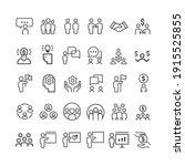 business people vector line... | Shutterstock .eps vector #1915525855