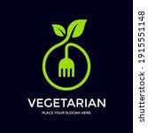 vegetarian vector logo template....   Shutterstock .eps vector #1915551148