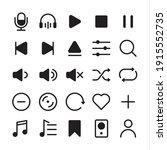 music app icons set ... | Shutterstock .eps vector #1915552735