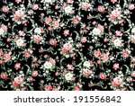 red rose fabric background ... | Shutterstock . vector #191556842