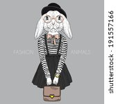 Fashion Illustration Of Bunny...