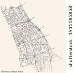 black simple detailed street... | Shutterstock .eps vector #1915585858