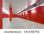 empty parking area on  long and ... | Shutterstock . vector #191558792