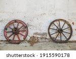 Rotten Wooden Wheels Near The...