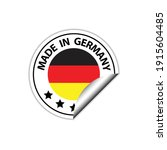 made in germany vector stamp.... | Shutterstock .eps vector #1915604485