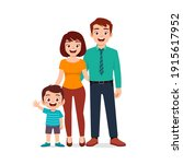 cute little boy with mom and... | Shutterstock .eps vector #1915617952