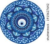 mandala greek evil eye vector   ... | Shutterstock .eps vector #1915627642