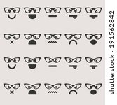 set of different emoticons... | Shutterstock .eps vector #191562842