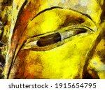 Big Ancient Golden Buddha In...