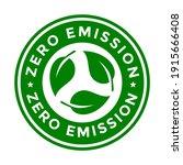zero emission vector badge... | Shutterstock .eps vector #1915666408