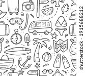 hand drawn seamless pattern of...   Shutterstock .eps vector #1915688212