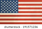 american flag vintage textured... | Shutterstock .eps vector #191571236