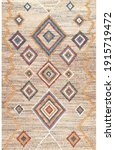 Traditional Geometric Rug With...