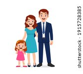 cute little girl with mom and...   Shutterstock .eps vector #1915728385