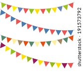 blank banner  bunting or swag... | Shutterstock .eps vector #191573792