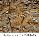Natural Rock Background With...