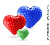 red  blue and green strawberry... | Shutterstock .eps vector #191581748