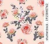 seamless pattern floral... | Shutterstock .eps vector #1915840762