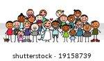 wedding   group | Shutterstock .eps vector #19158739