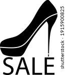 High Heel Shoe On Sale Sign...