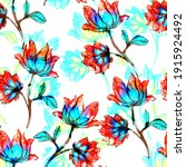 beautiful seamless floral... | Shutterstock . vector #1915924492